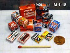 14 Diverse Color Kartons in 1:18-1:20 für Diorama,Modell Garage Werkstatt