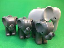 Lego Duplo Elefant mit 3x Baby aus 4960 Duplo Ville Zoo Super Set   #4-191