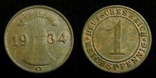 Germany / Weimar - 1 Reichspfennig 1934 G