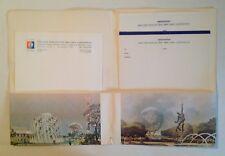 1964-65 New York World's Fair Unisphere Letterhead Stationary Folder- very rare