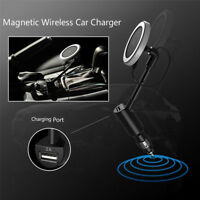 Wireless Fast Car Charger Magnetic Cigarette Lighter Holder USB Phone charge