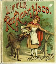 VINTAGE 1890 + ORIGINAL + LITTLE RED RIDING HOOD  + McLOUGHLIN BROS + LINEN
