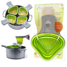 Pasta Basket Healthy Steps Cooking Portion Control Green Kitchen Tool Silicone