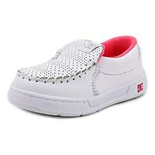 DC Shoes Villain Toddler Round Toe Leather White Loafer Size 6
