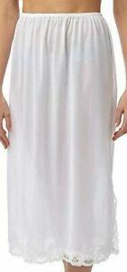 """Ladies underskirt half slip waist under slip petticoat by Marlon 24"""" sizes 12-26"""