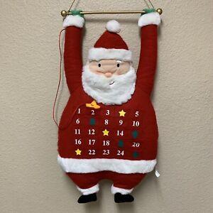 Hallmark Hanging Santa Plush Advent Calendar Vintage Countdown to Christmas