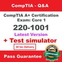 CompTIA A+ Core 1 220-1001 Exam ✔ Q&A and simulator Instant Delivery!!