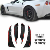 For 2005-2013 C6 Corvette Molded Mud Flap Splash Guards  Front Rear 19170234