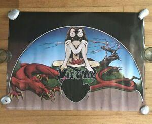 Virgin Label Original Vintage Poster Roger Dean Psychedelic 1972 Trippy Music