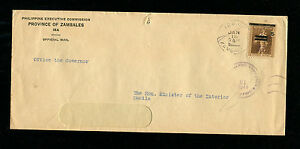 Japan Occupation of the Phillipines 1944  Official Cover Zambales Province