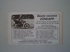 advertising Pubblicità 1971 MOTO ZUNDAPP 125 KS STRADA