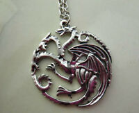 Game of Thrones Targaryen Dragon Pendant Necklace Antique Silver Colour