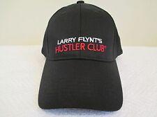 Larry Flynt's Hustler Club Baseball Hat Black Larry Flints Bar Stitched Logo Cap