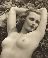 Original Vintage Female Nude Everard Photo Gravure Print 40s19