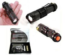 TORCIA TATTICA MILITARE A LED 5000 LUMENS XENON ZOOM RICARICABILE LITIO