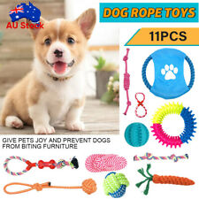 11PC Dog Rope Toys Nolsen Pet Puppy Chew Toy Gift Set Durable Cotton Clean Teeth