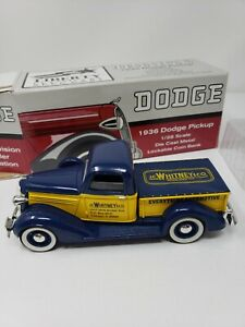 Vintage Liberty Classics 1/28 1936 Dodge Diecast Pickup Truck Bank J.C. Whitney