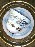VTG Fine Porcelain Tea Cup and Saucer. GREAT Mix & Match Paired Duo in Blue. EXC