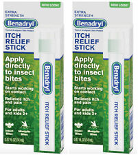 BENADRYL Stick ITCH RELIEF STICK BITES,STINGS - GREAT PURSE / TRAVEL (2 pack )