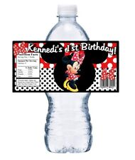20 RED MINNIE MOUSE PERSONALIZED BIRTHDAY PARTY FAVORS WATER BOTTLE LABELS