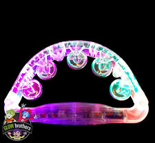 1 x FLASHING LIGHT UP TAMBOURINES. HALF MOON - FESTIVALS, PERCUSSION