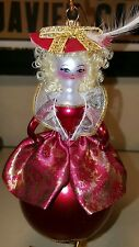 SOFFIERIA DE CARLINI BLOWN GLASS MARIE ANTOINETTE CHRISTMAS ORNAMENT Made Italy