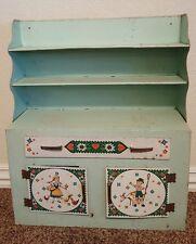 Vintage Metal Toy Kitchen children dolls German motif Wolverine toy cupboard