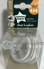 New Tommee Tippee Closer To Nature Fast Flow Nipples, 6+ months - 2 count