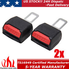 2Pcs Universal Car Tucker Safety Seat Belt Clip Buckle Extender Extension Black