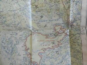 Parry Sound Ontario Canada National Topographic Series 1930 pocket folding map