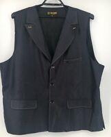 Stacy Adams Blue Shiny Vest Mens Big And Tall size 4XL