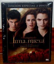 SAGA CREPUSCULO LUNA NUEVA EDICION ESPECIAL 2 DVD+LIBRO NUEVO PRECINTADO DRAMA
