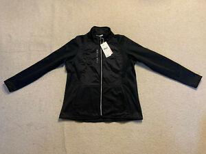 Rohnisch Ivy ladies thermo stretch golf jersey jacket   black   large size   New