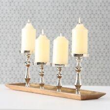Kerzenständer Kerzenhalter Metall Rund 14,5 x 10,5 x 2,5cm Schwarz Metall Halter