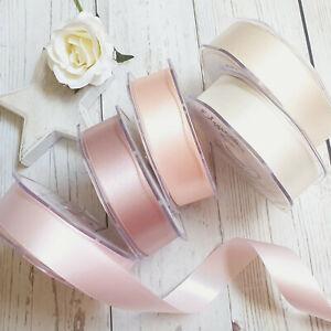 Blush Nude Satin Ribbon. Wedding Stationery Invites Bouquet Nursery Rose Gold