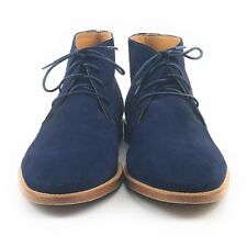 Sebago Bryant Chukka Ankle Boots Blue Suede Leather Lace Up Plain Toe Men's 11