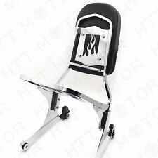 NEW Detachable Sissy Bar Backrest & Luggage Rack for Harley FATBOY Softail FLSTN