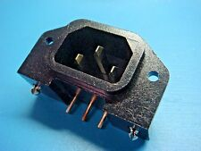 (1) SWITCHCRAFT EAC333S Male AC Socket Power Plug Panel Mount 15A 250V SNAP-IN