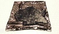 funky reversible sequin cushion cover -twin pack. red/gold black/silver pink/pur