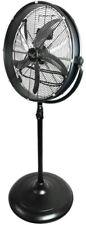 Vie Air Industrial Drum Fan Portable Pedestal 20 Inch Adjustable Height Black