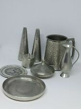 PEWTER. LOT OF SEVEN VINTAGE PIECES