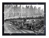 Historic North Bank Logging Co. - Grays River, Washington Train Postcard
