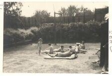 1930's PHOTO NUDE BERTRAM PARK - 31 SUNBATHING GROUP