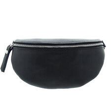 Bauchtasche Damen Leder Hüfttasche Hip Bag Gürteltasche schwarz