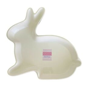 FARVAL Portugal Porcelain Bunny Rabbit Serving Plate Platter Dish White 12 x 11""