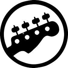 """Bass Guitar Vinyl Decal """"Sticker"""" For Car or Truck Windows, Laptops, etc"""