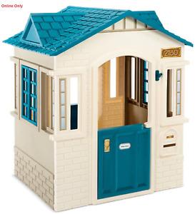 New Little Tikes Outdoor Indoor Cubby House Playhouse 2 doors window shutters