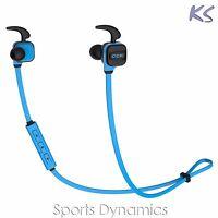 Bluedio CCK KS Bluetooth Wireless Sports Earphone Cordless Headphones Mic, Blue