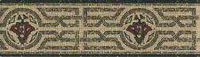 JOSEPH ABBOUD BLACK ORIENTAL DESIGN  WALLPAPER BORDER