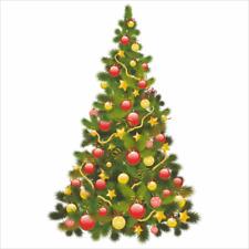 Traditional Christmas Tree Window Cling